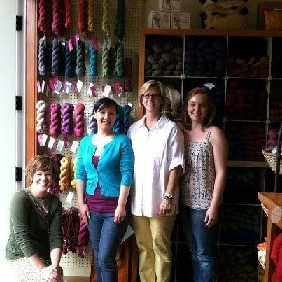 Visiting Julie, Kate and Katie at My Sister Knits