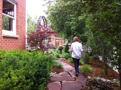 My Sister Knits, garden path