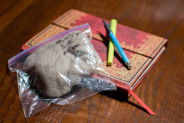 Keep a journal to keep track of your spinning fibre and handspun (photo by Grace Verhagen)