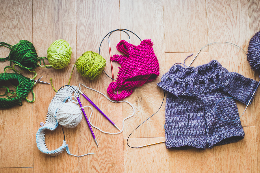 Friday Five: Unfinished knitting projects