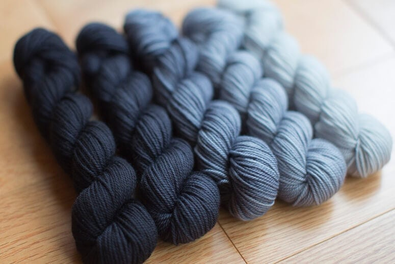 Party of Five - Graphite (in Tough Love Sock)