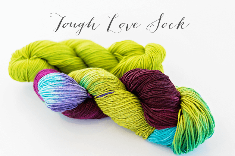 Colourful Playful Stitches. Tough Love Sock in Songbird and Pistachio.