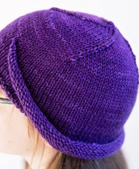 Aventine by Alice Tang. Holidays with SweetGeorgia, Vol. 2. Moebius Hat knitting pattern.