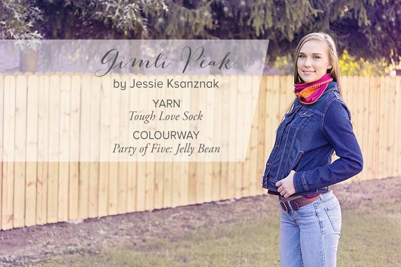 Gimli Peak by Jessie Ksanznak. Holidays with SweetGeorgia, Vol. 2. cowl knitting pattern.