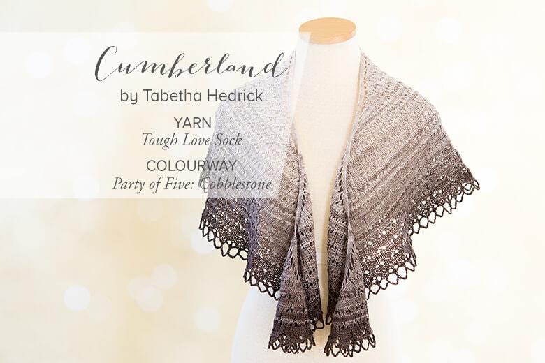 Cumberland Shawl knitting pattern by Tabetha Hedrick. SweetGeorgia Yarns