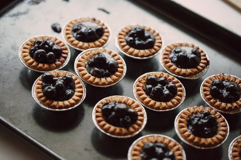 Blueberry Tarts by Felicia