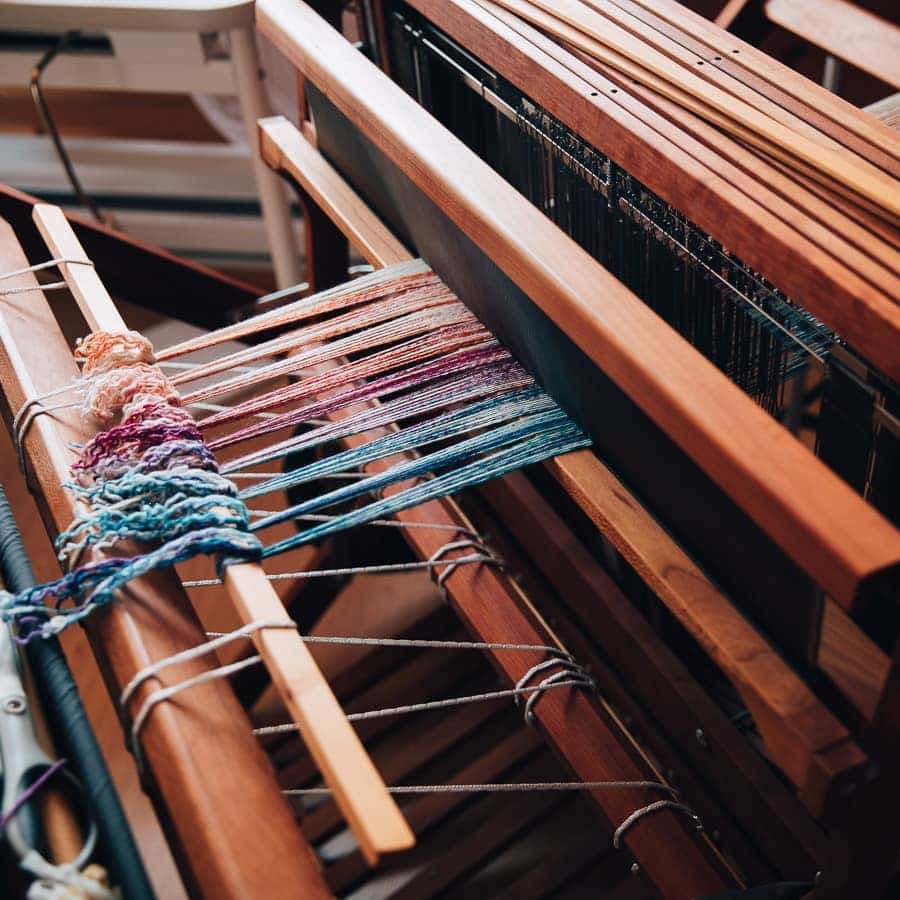 Weaving on the Schacht Baby Wolf Loom