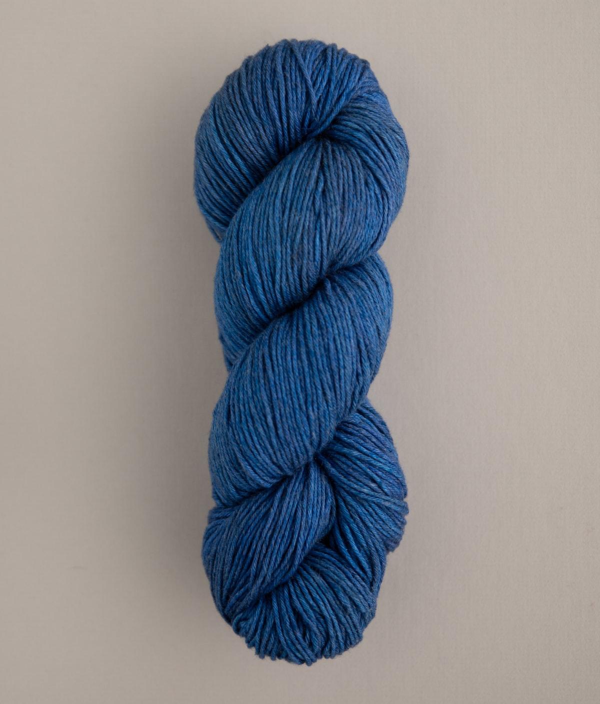 Hand Spun Yarn 73g Wool and Silk 243m Sky Blue DK Weight