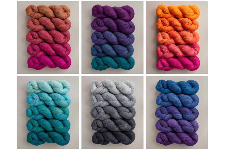 SweetGeorgia Limited Edition Full Skein Party Pack Gradient Yarn Sets