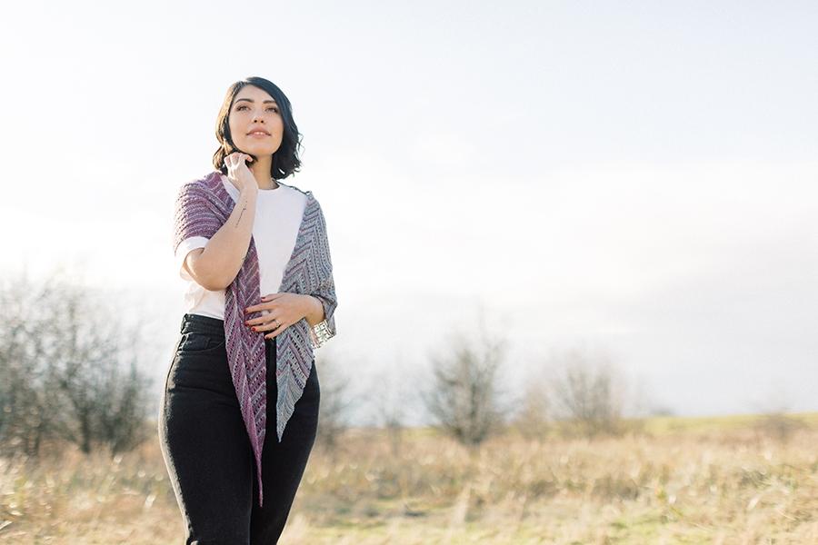 First Blooms shawl by Tabetha Hedrick