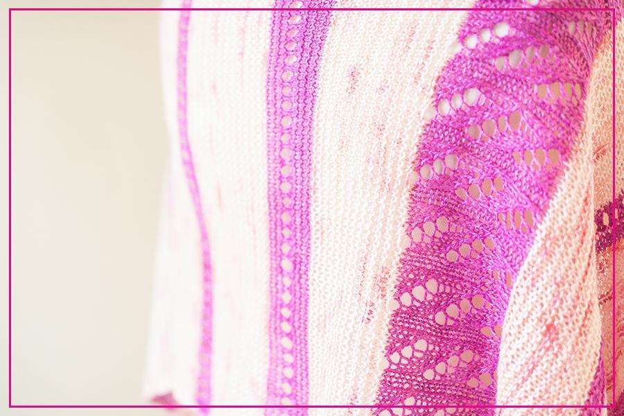 Christel stole pattern by Tabetha Hedrick knit in SweetGeorgia SeaSilk Lace