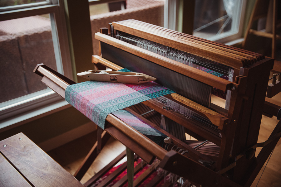 Felicia Lo's Handwoven Towels on Schacht's Baby Wolf Loom