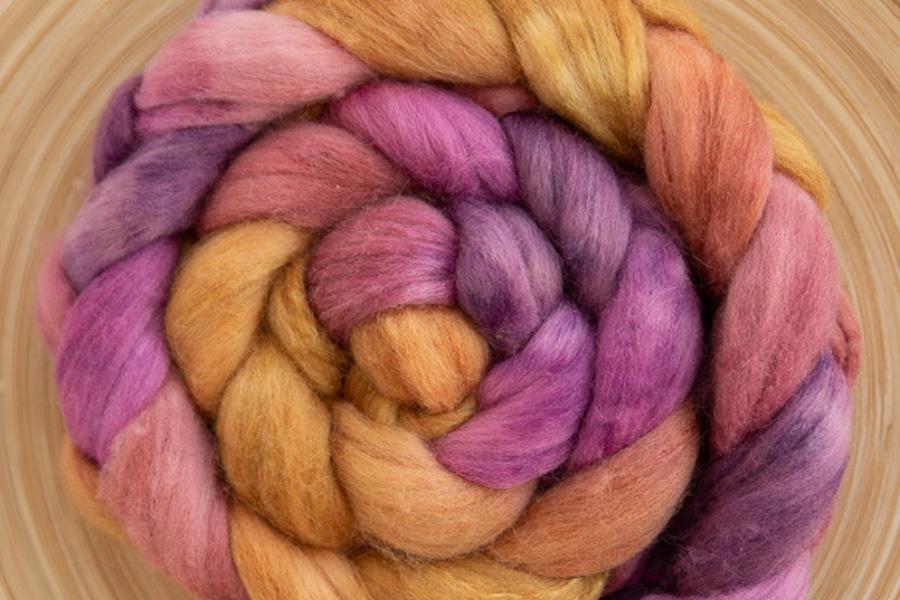 SweetGeorgia Spring Fling Merino Tussah spinning fibre