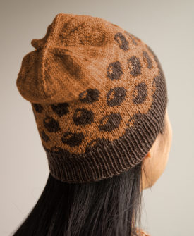 Boba Hat by Athena Chang knit in SweetGeorgia Tough Love Sock