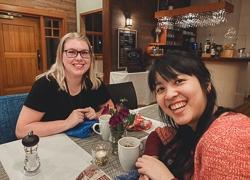Charlotte and Leah at SweetGeorgia Fibre Arts Retreat