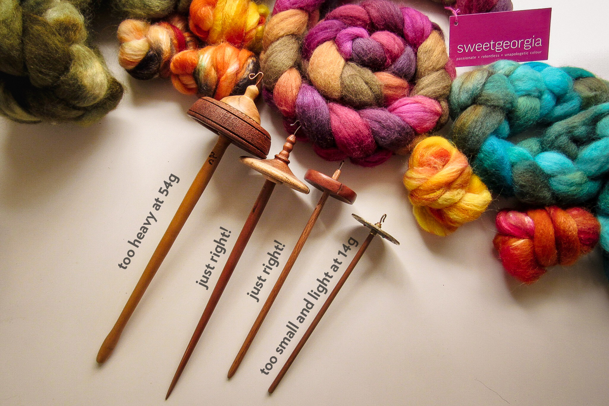 A first spindle that is about one ounce (28 g) in weight will be easiest to begin with, photo by Debbie Held