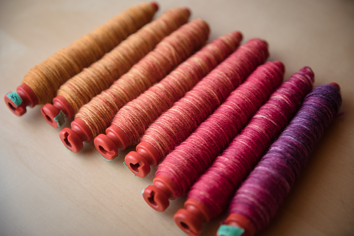 Hand-Dyed SweetGeorgia Sock Blank used as weft