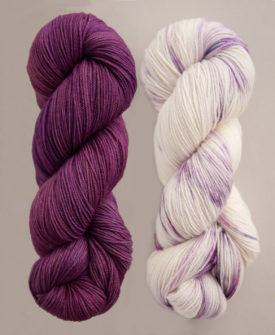Breathe and Hope Sets of Knitting Yarn in Dried Lavender and Slumber Party