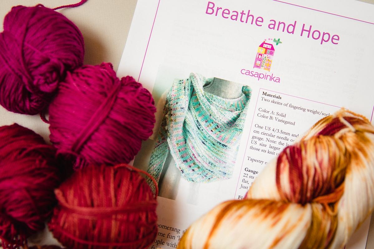 Knitting the Breathe & Hope Shawl