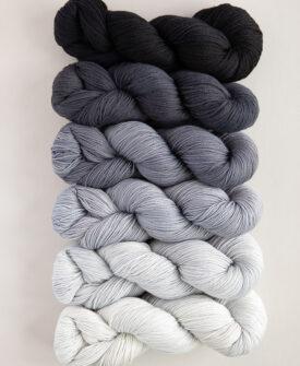 Graphite Fade Kit 6 gradient/ombre colours full skeins