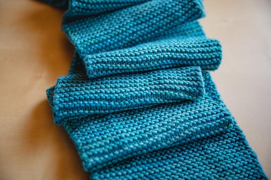 Learn to Knit a Garter Stitch Scarf_6 | SweetGeorgia Yarns