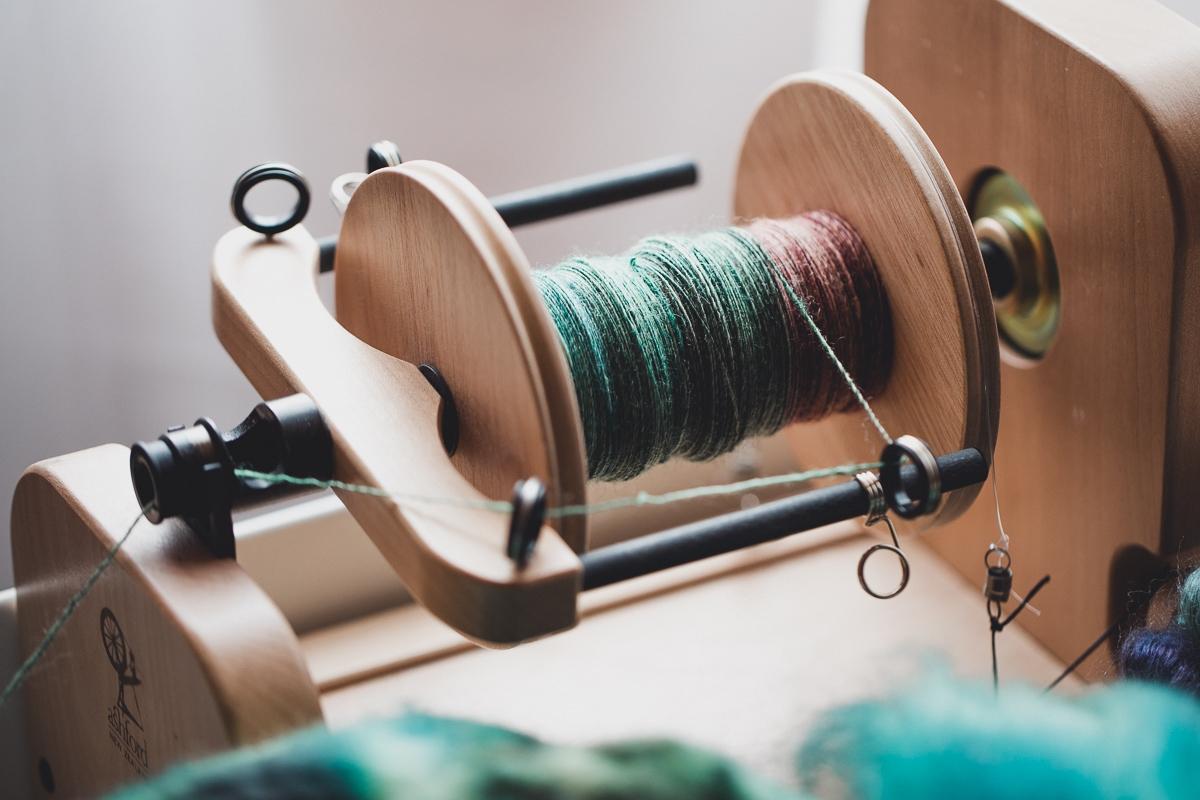 Spinning on the Ashford e-spinner 3