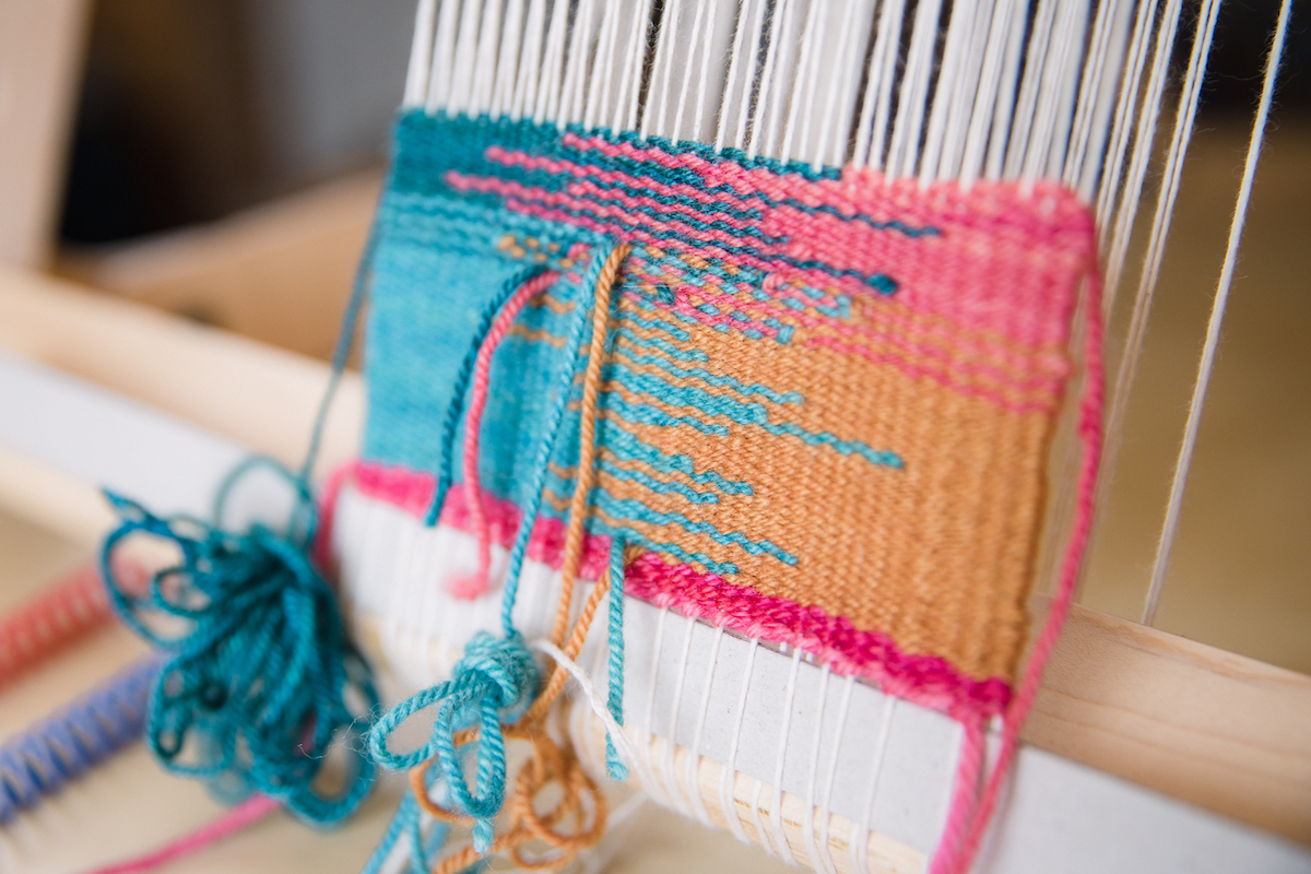 Felicia Lo's Tapestry Weaving on a Schacht Arras Tapestry Loom