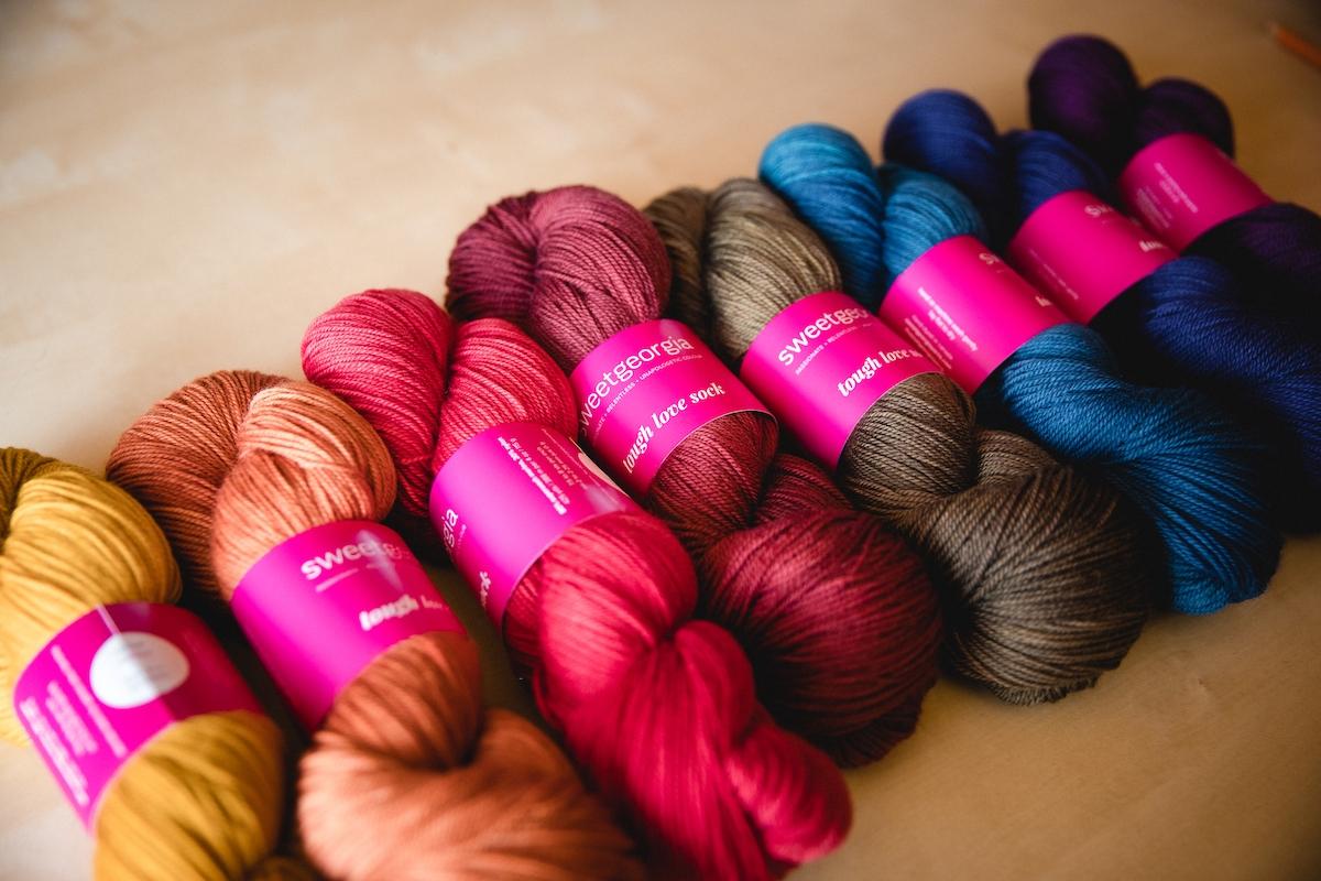 SweetGeorgia Autumn & Winter 2020 seasonal colour palette