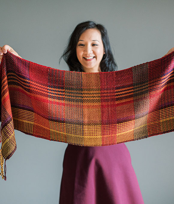 SweetGeorgia Advent yarn and pattern kits for knitting and weaving
