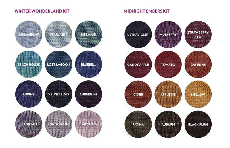 SweetGeorgia Advent 2020 Calendar kit colour options