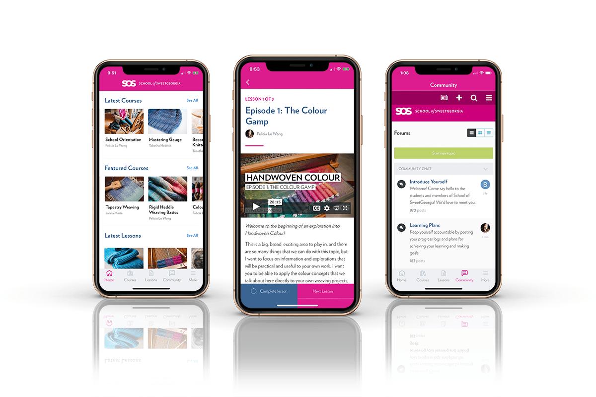 School of SweetGeorgia Mobile App