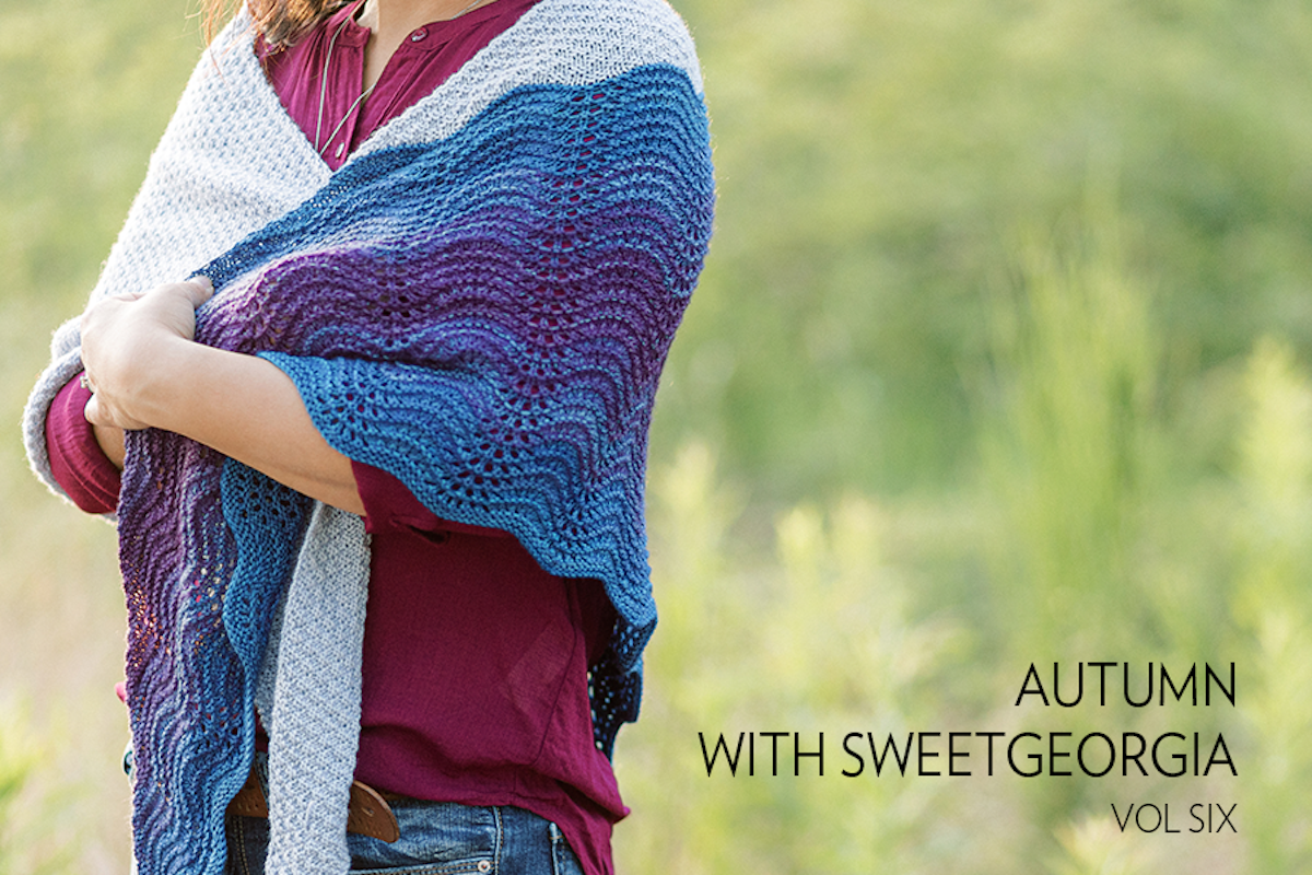 SweetGeorgia Autumn knitting and crochet pattern collection vol. 6