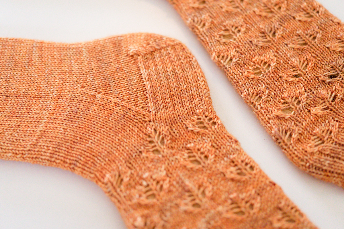 SweetGeorgia Yarns Breezy sock knitting pattern by Tabetha Hedrick