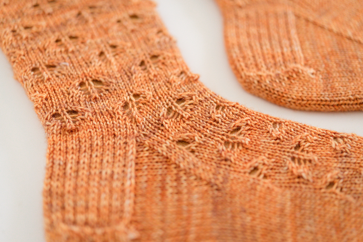 SweetGeorgia Yarns Breezy sock knitting pattern by Tabetha Hedrick