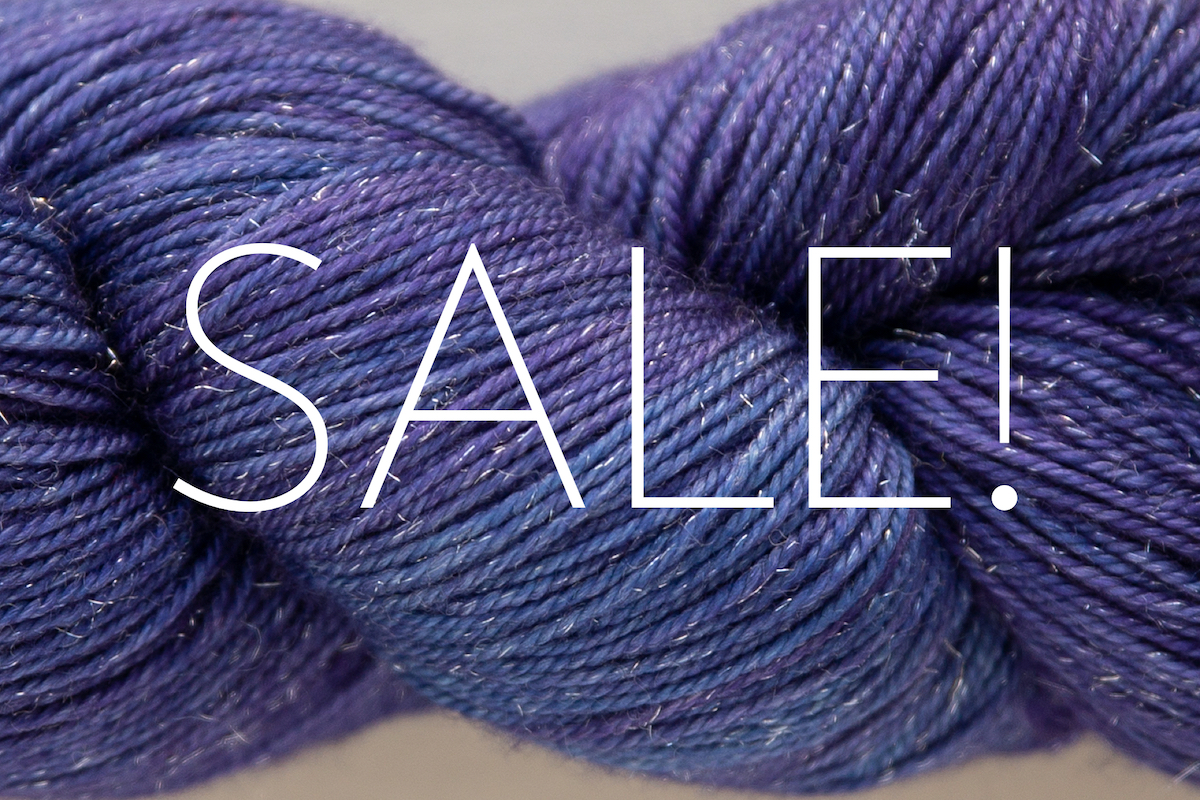 Socktober Yarn Sale. Shown here: CashLuxe Spark in Lupine