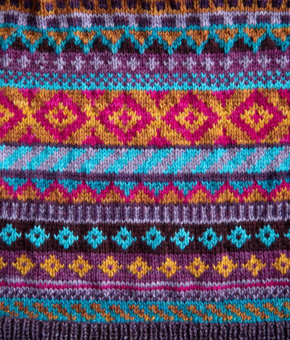 Colourwork Knitting for Wild Autumn Cardigan