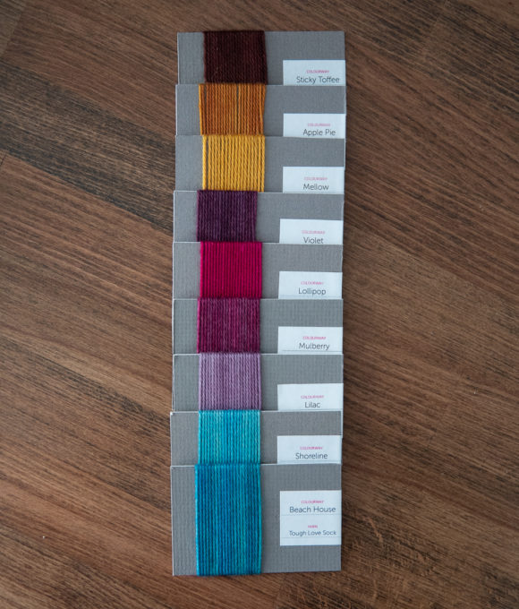 Colour palette for colourwork knitting