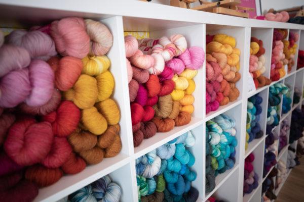 SweetGeorgia Yarns at the new SweetGeorgia Studio Shop