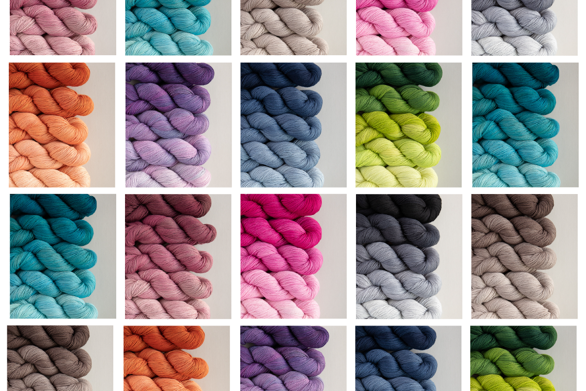 SweetGeorgia Hand-dyed yarn fade sets Party Pack