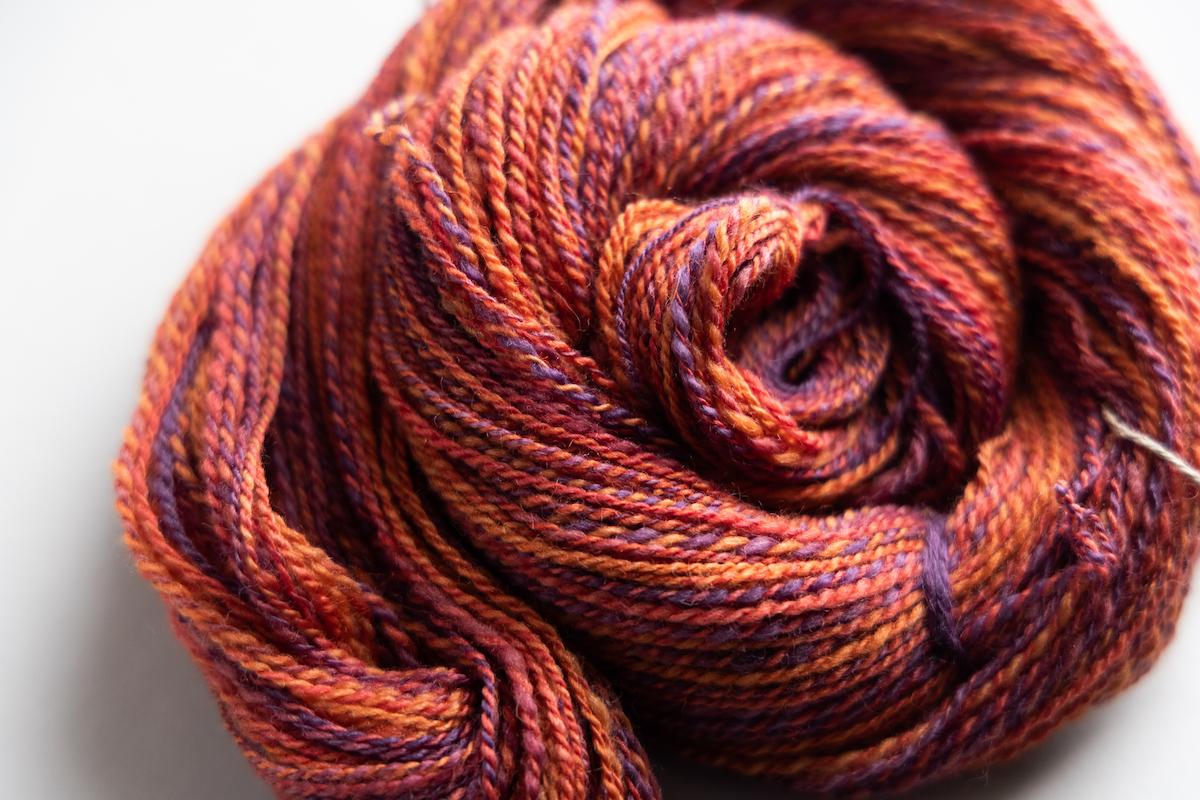 Handspun BFL+Silk wool by Felicia Lo Wong