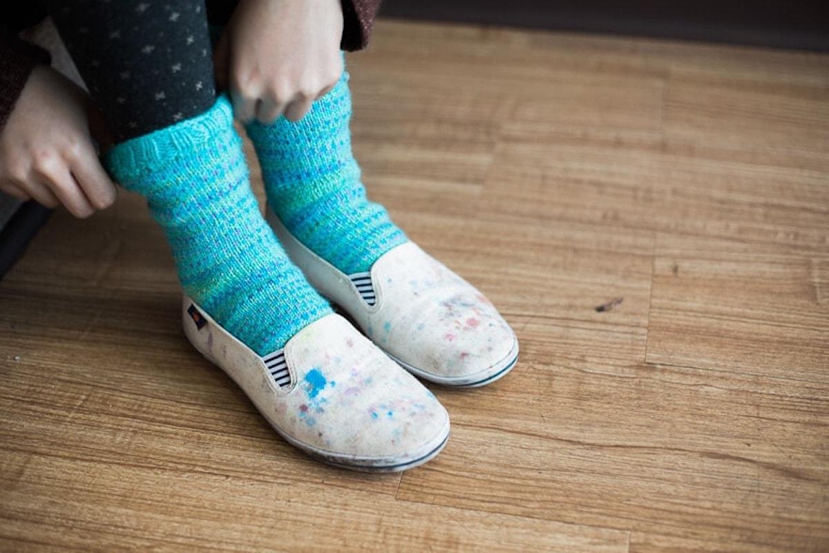 Charlotte's first hand knit socks